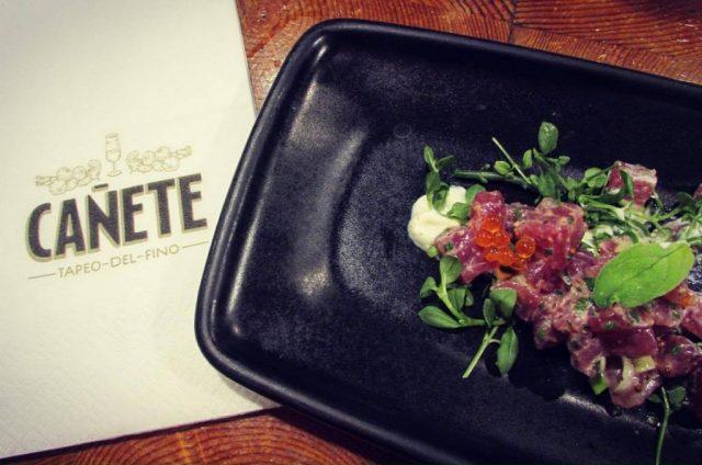 Bar Canete Catalan Restaurant Tuna Tartare