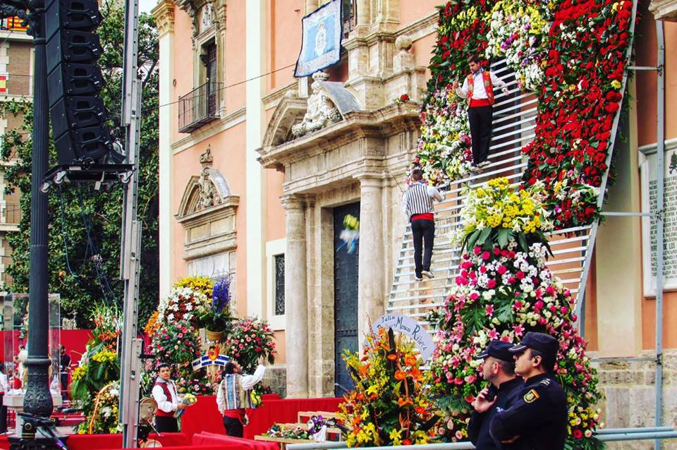 The offering of the flowers at Valencia's Las Fallas festival