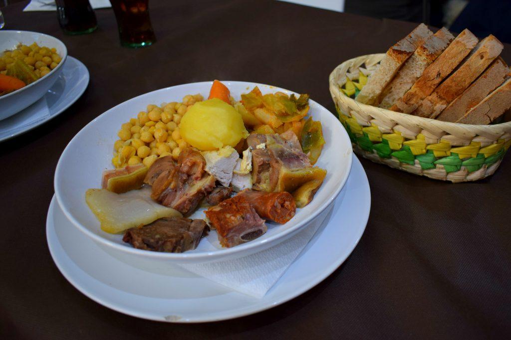 Galician Cocido Stew in Astorga, Northern Spain