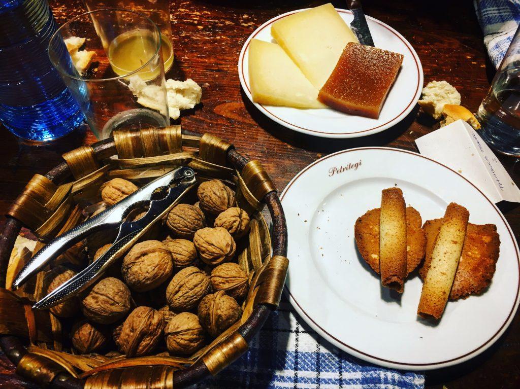 dessert at Petritegi sagardotegi