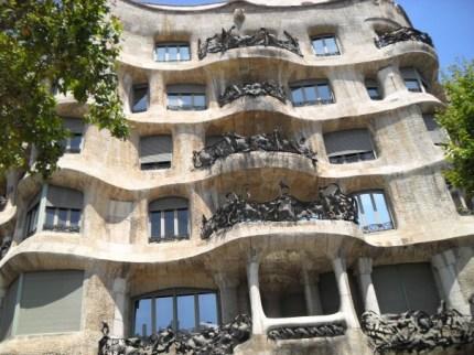 Antoni Gaudi's famous Casa Mila building on Passeig de Gracia, Barcelona