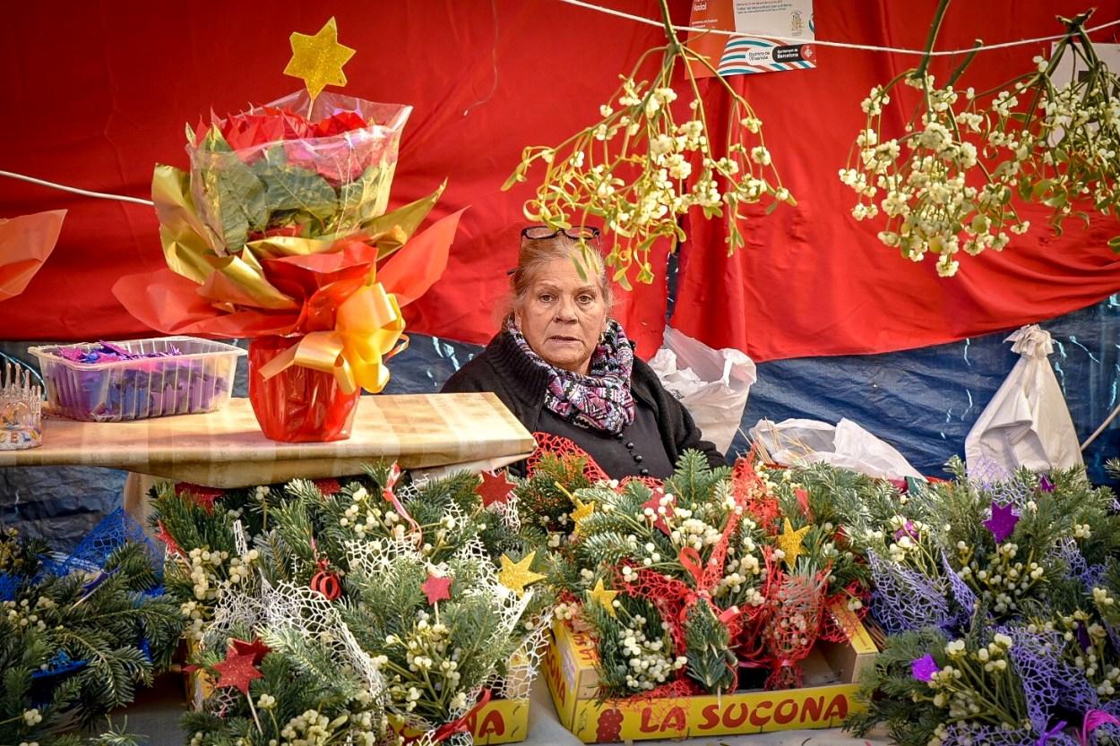 Fira de Santa Llucia Christmas Market Barcelona