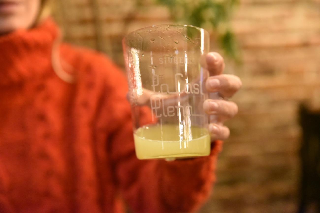 Drinking Asturian cider in Llanes, Asturias, northern Spain