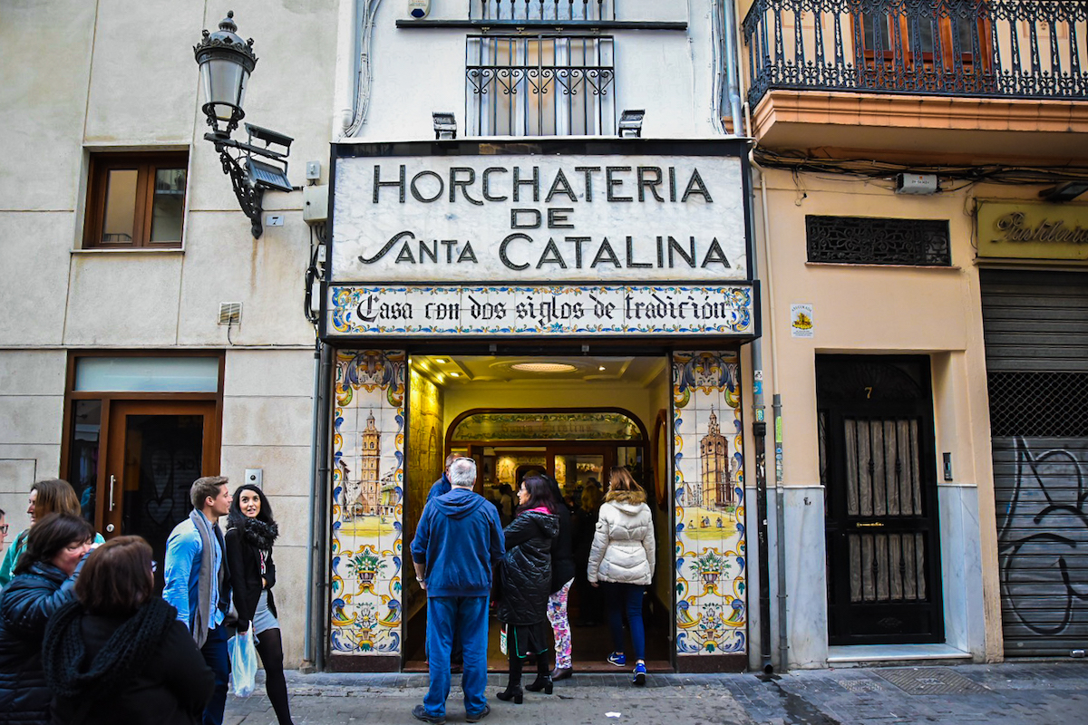 Valencia's Famous Horchateria Santa Catalina - horchata and Fartons by Ben Holbrook