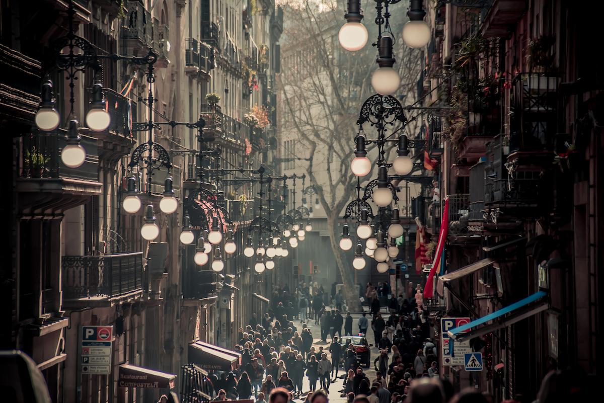 Carrer Ferran, Barcelona's Gothic Quarter - by Ben Holbrook