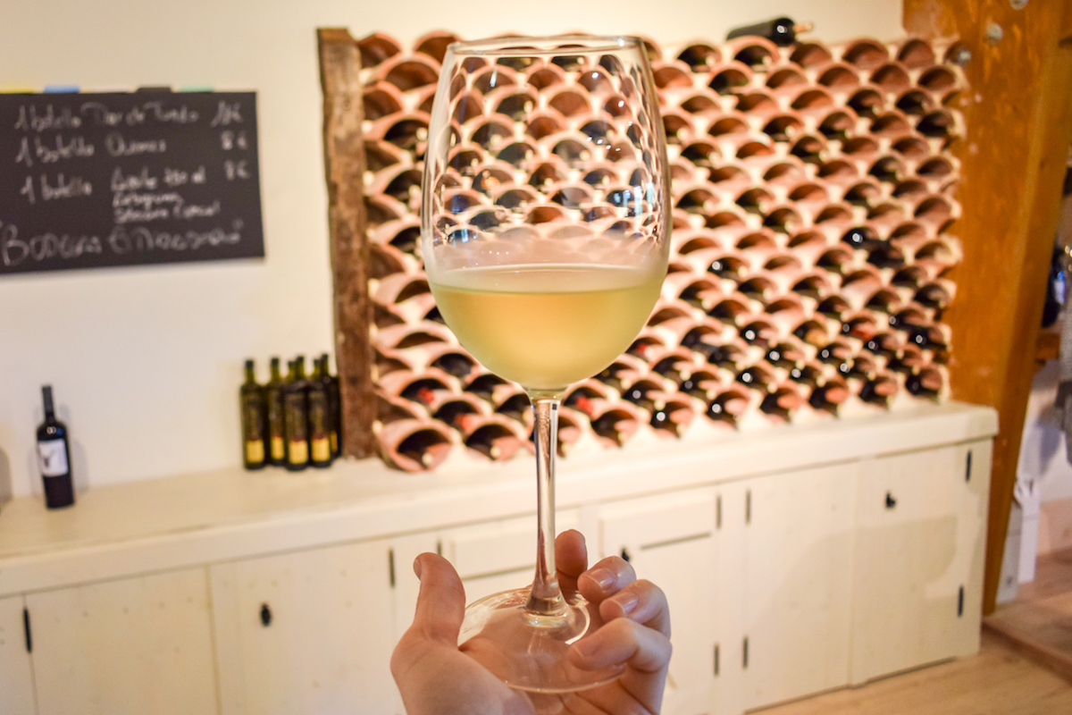 Wine tasting at Bodega Miradorio de Ruiloba in Cantabria.