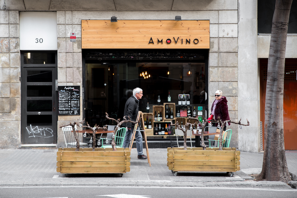 AmoVino (Eixample), Barcelona Catalan wine bar.