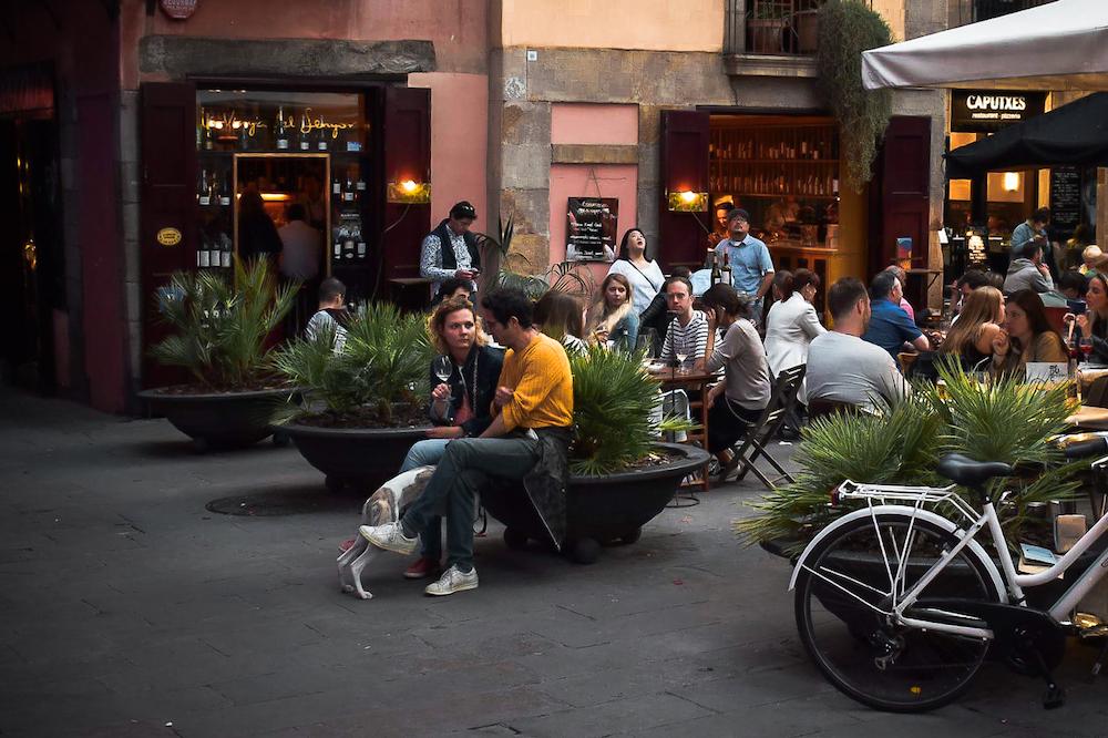 La Vinya del Senyor Wine Bar in Barcelona's Old Town Born Barrio.