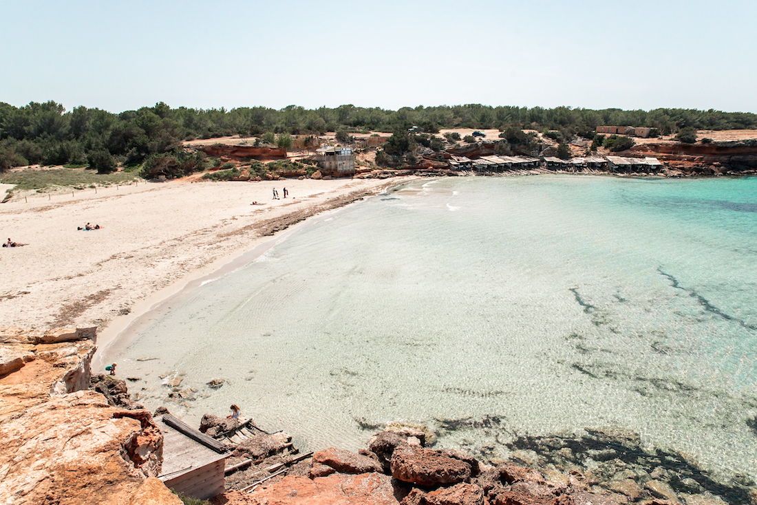 Friends flock together at Cala Saona, Formentera - Travel Guide by Ben Holbrook