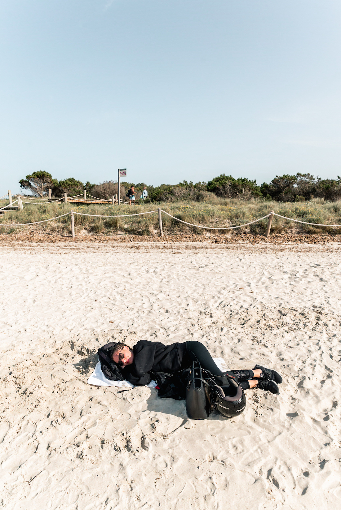 Sleeping on the beach in Formentera, Spain
