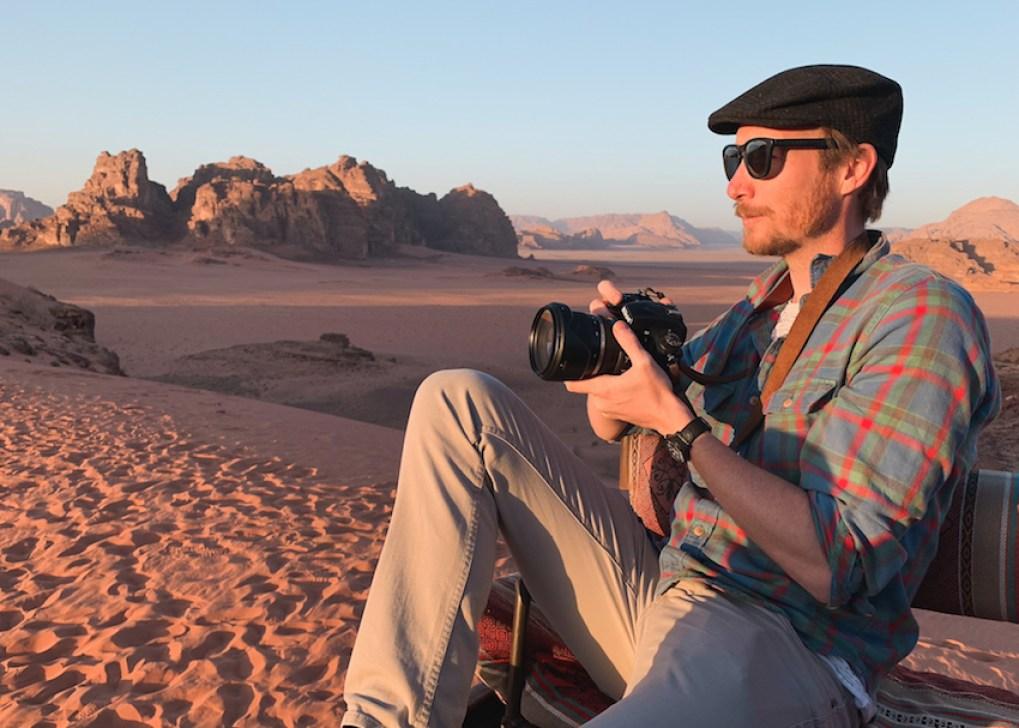 Ben Holbrook in Wadi Rum