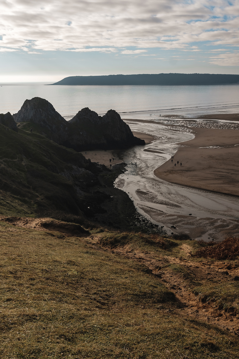 Three Cliffs Bay beach, Gower, Wales (UK)