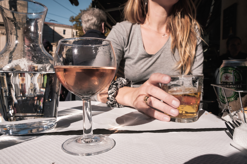 Drinking wine in Montpellier, Southern France - by Ben Holbrook from DriftwoodJournals.com-4