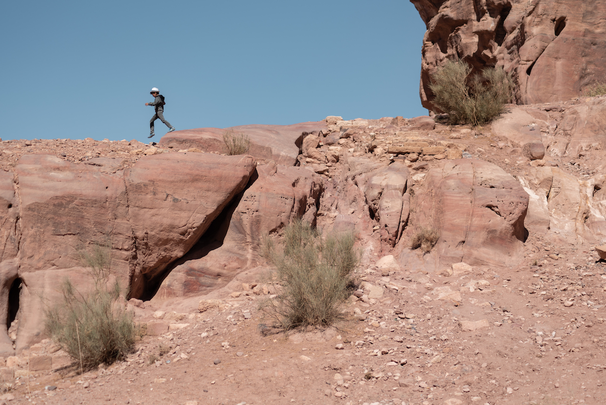 Local businessman commuting to work. Petra, Jordan. By Ben Holbrook from DriftwoodJournals.com.