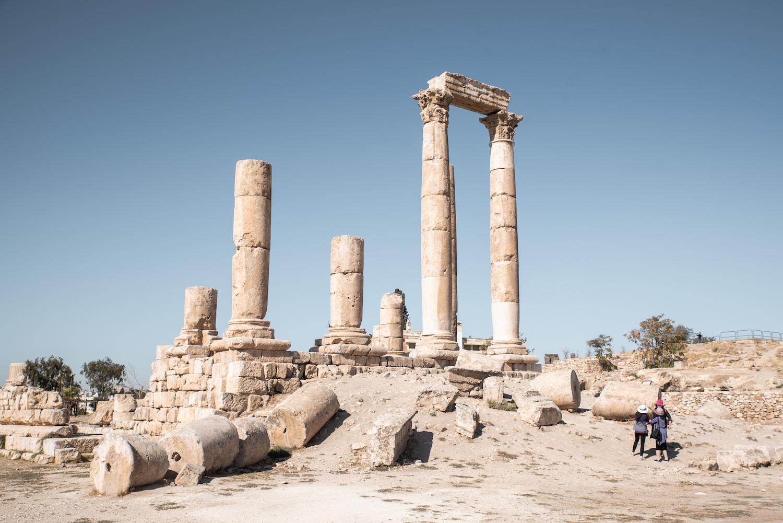 Temple of Hercules, Amman Citadel, Jordan - by Ben Holbrook from DriftwoodJournals.com
