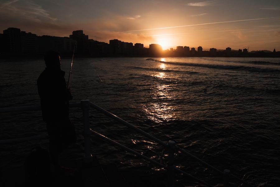 Gijon Beach at Sunset - Photography by Ben Holbrook from DriftwoodJournals.com-4704