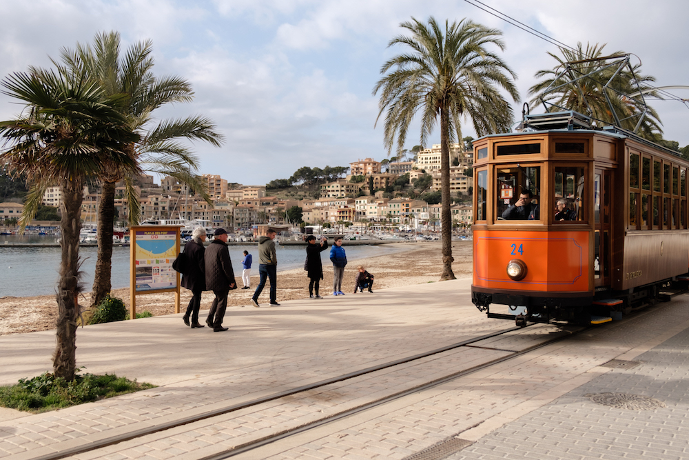 Port de Sóller and its famous vintage tram - Mallorca Travel Photography by Ben Holbrook from DriftwoodJournals.com