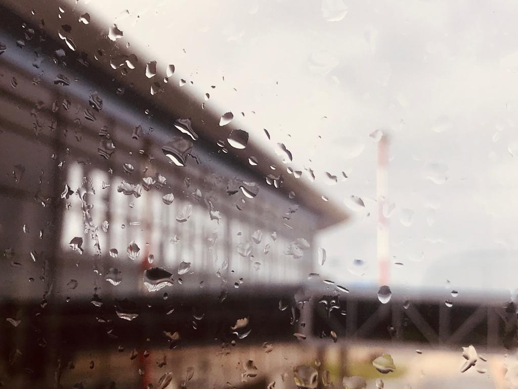 Oviedo/Asturias Airport in the rain - by Ben Holbrook from DriftwoodJournals.com