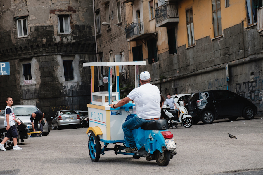 Gelato Scooter Stall in Naples, Italy Tavel Photography By Ben Holbrook from DriftwoodJournals.com-4948