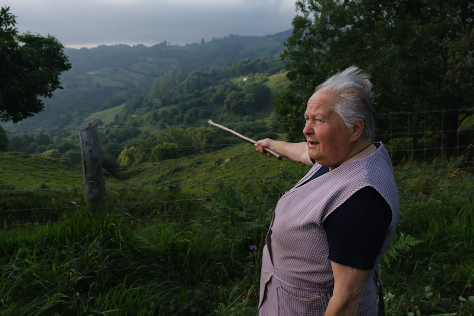 Local herds-woman in Pilona, Asturias Travel Photography by Ben Holbrook from DriftwoodJournals.com-2948