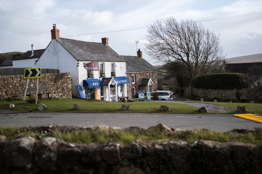 PJ's Surf Shop and Surfboard Rental, Llangennith Village and King's Head Inn Pub, Gower Peninsula South Wales, UK - Landscape Photography by Ben Holbrook-8