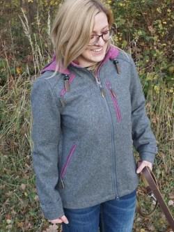 Lodenjacke Artemis Outdoor Grau-Beere