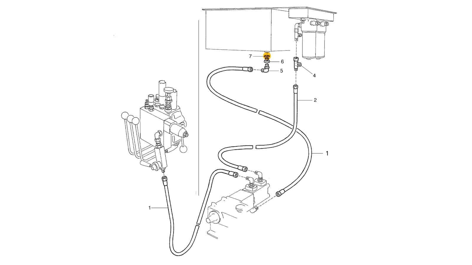 Set Of Hoses For Flush Pump Control (262)