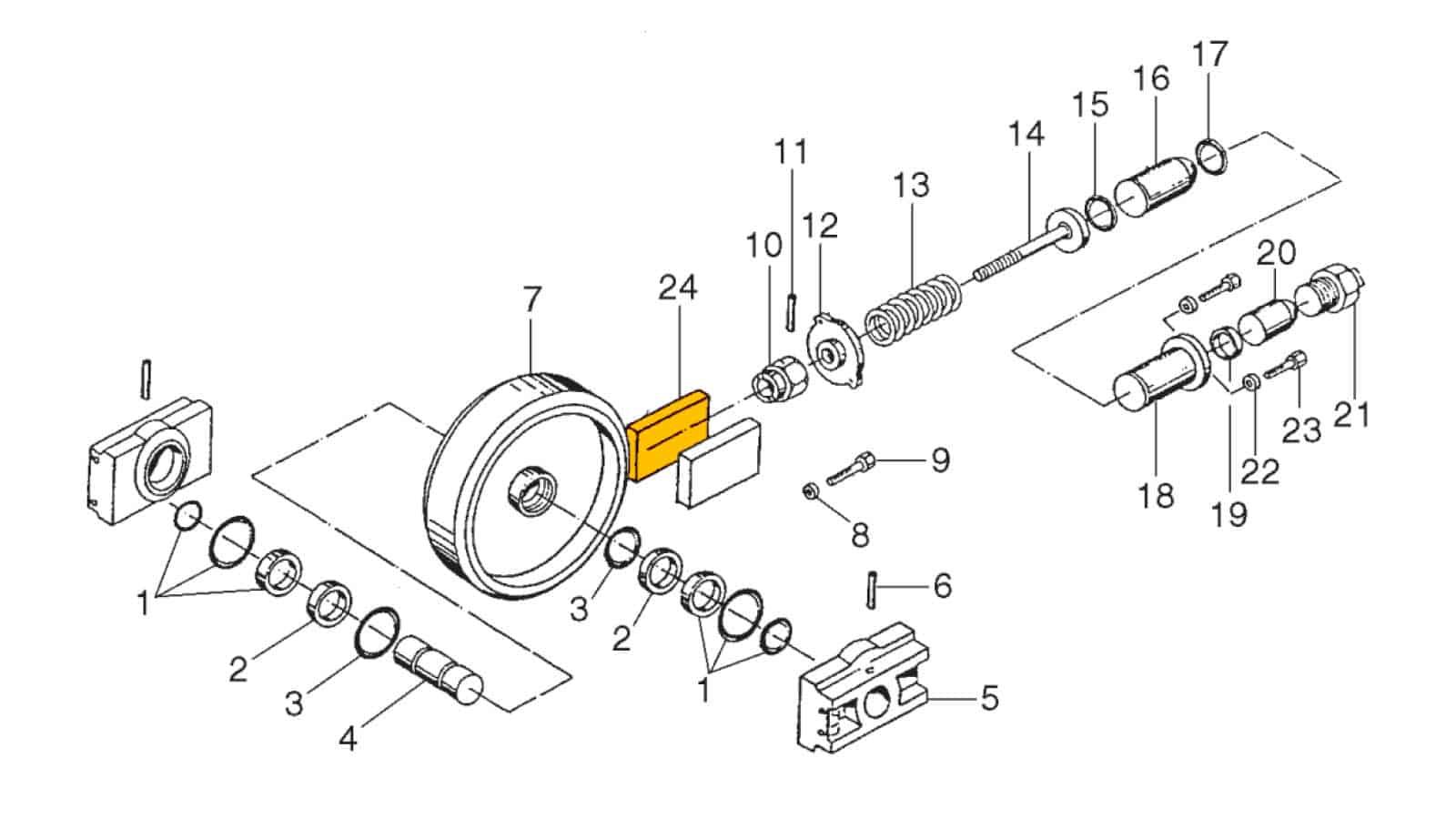 Front Wheel Spring Suspension (U6)