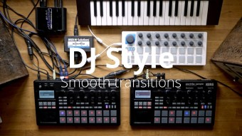 Seamless live transitions with 2x Electribe Sampler (or DIgitakt etc) and external synths
