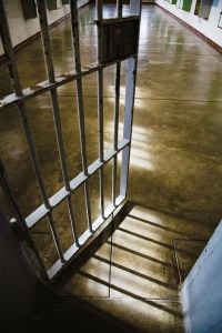 Prison Door - illustrating drug use in prisons