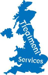 UK Map of drug treatment services