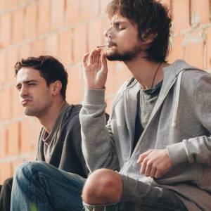 young people smoke cannabis