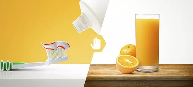 Why Juice Tastes So Bad After You Brush Your Teeth