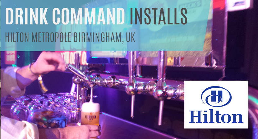 Blog header image of Drink Command Installs, Hilton Metropole Hotel, Birmingham, UK
