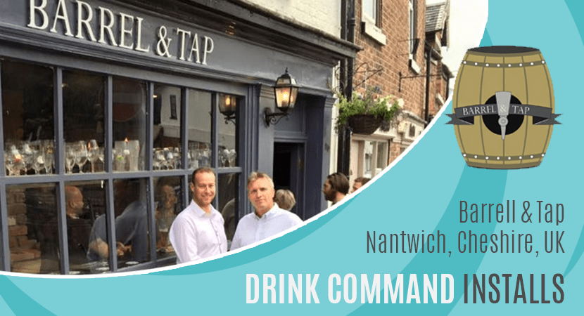 Blog post header drink command installs Barel & Tap Nantwich, Cheshire, UK