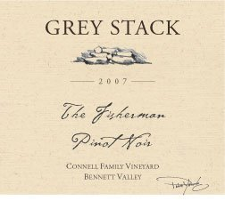 "2007 Grey Stack Pinot Noir ""The Fisherman"" Connell Family Vineyard Bennett Valley"