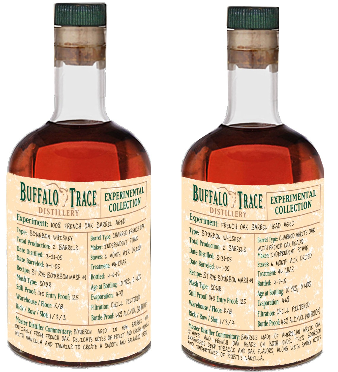 Buffalo Trace Experimental Collection 10 Year Old100% French Oak Barrel Aged Bourbon