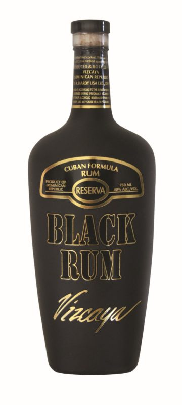Vizcaya Black Rum Bottle