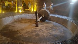 Antique agave crushing wheel