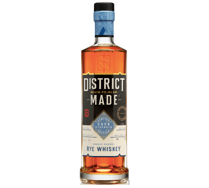 One Eight Distilling District Made Single Barrel Cask Strength Rye