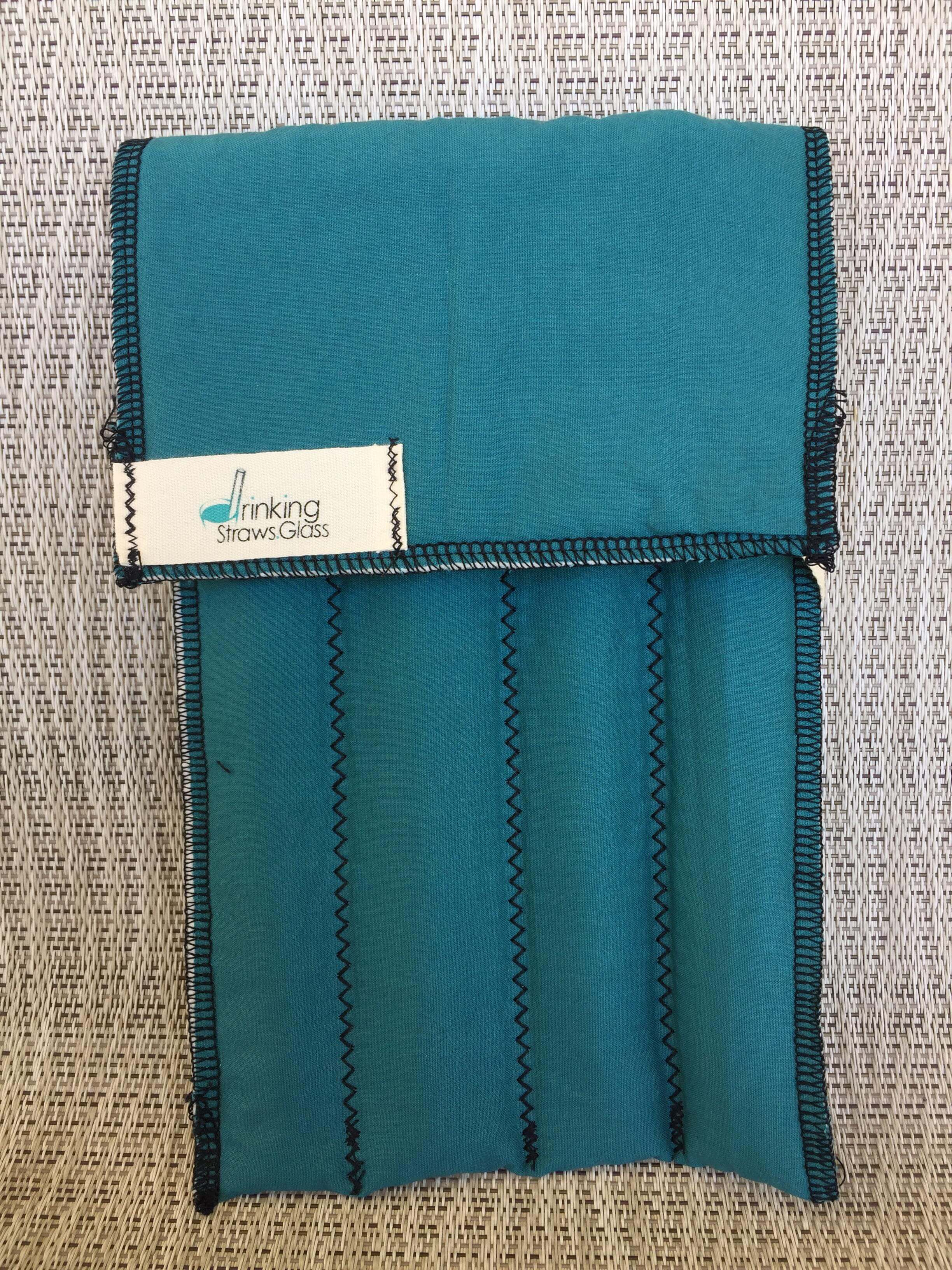 4 pack Carrying Case for reusable glass straws made with