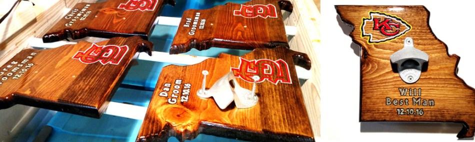 groomsmen gifts - wall-mounted bottle openers