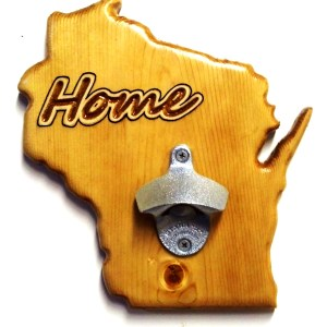 Wisconsin Bottle Opener - Pecan