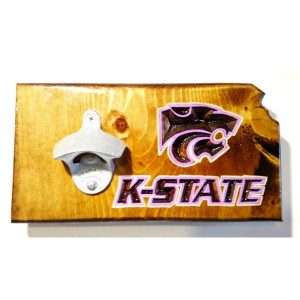 K-State Bottle Opener - Dark Walnut