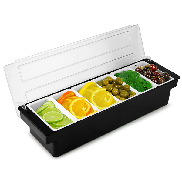 fruit basket for kitchen country island plastic condiment dispenser 6 compartment black | bar ...
