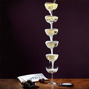 Coupe Stack Champagne Tower Gift Set