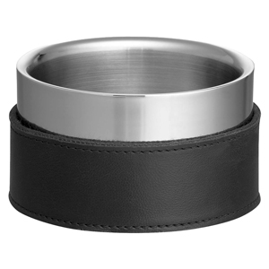 Stainless Steel & Leather Wine Bottle Coaster