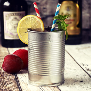 Tin Can Cocktail Cup Silver 10oz / 280ml