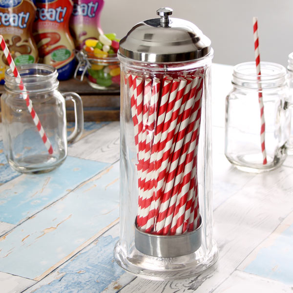 Glass Straw Dispenser  Straw Holder Drinking Straw