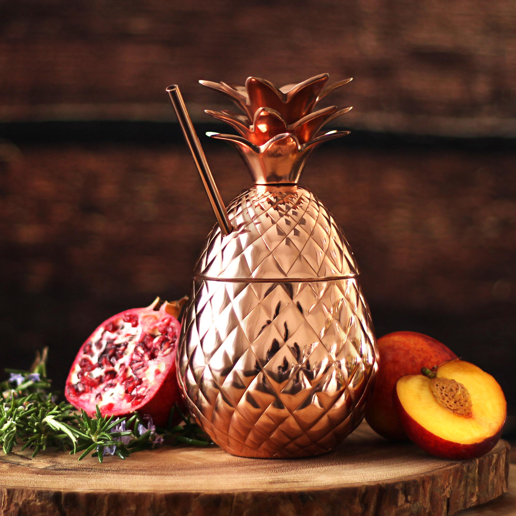 kitchen stuff for sale best damascus knives copper pineapple cup with straw 18.5oz / 525ml | drinkstuff